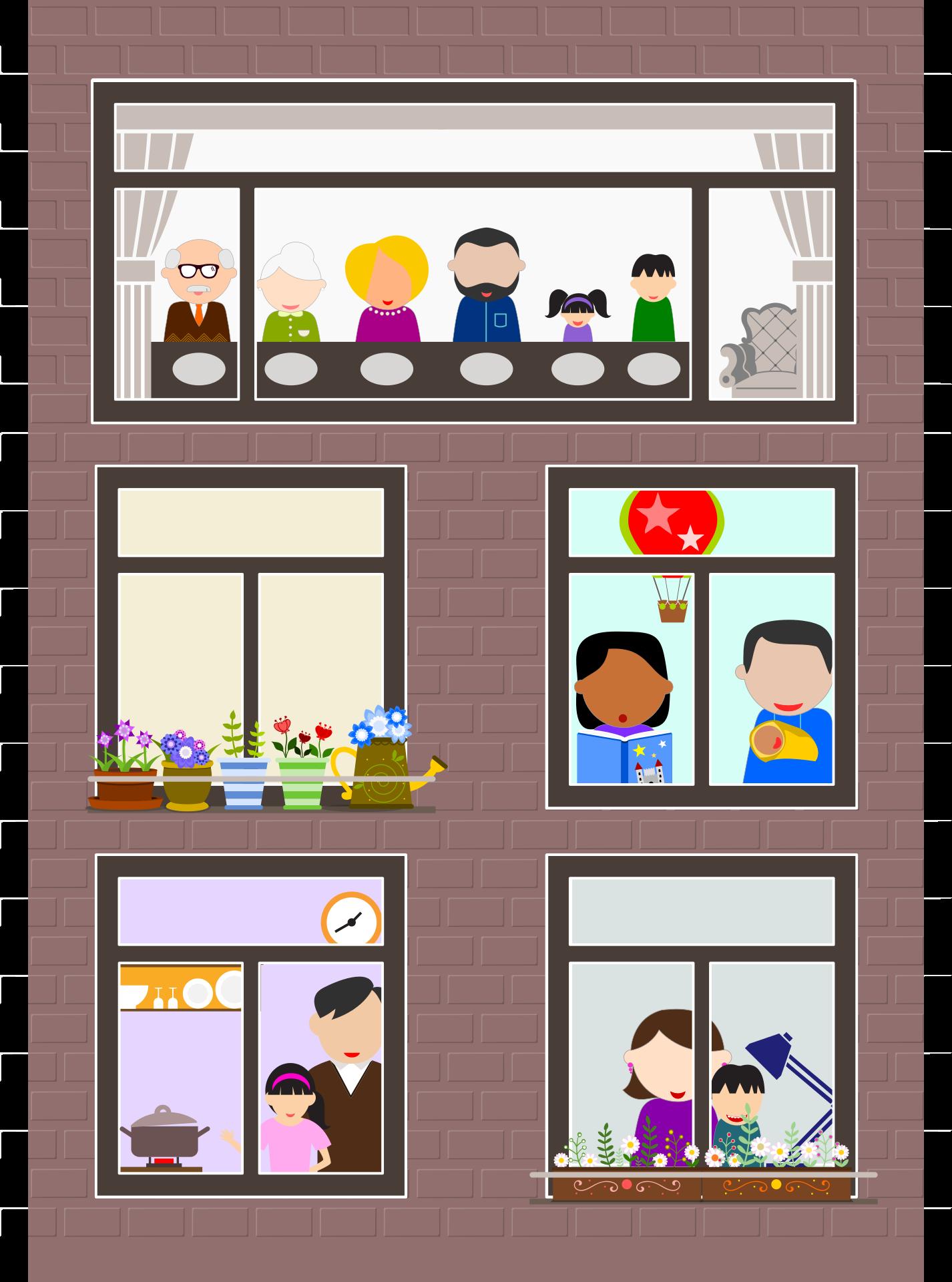 häusliche Familie
